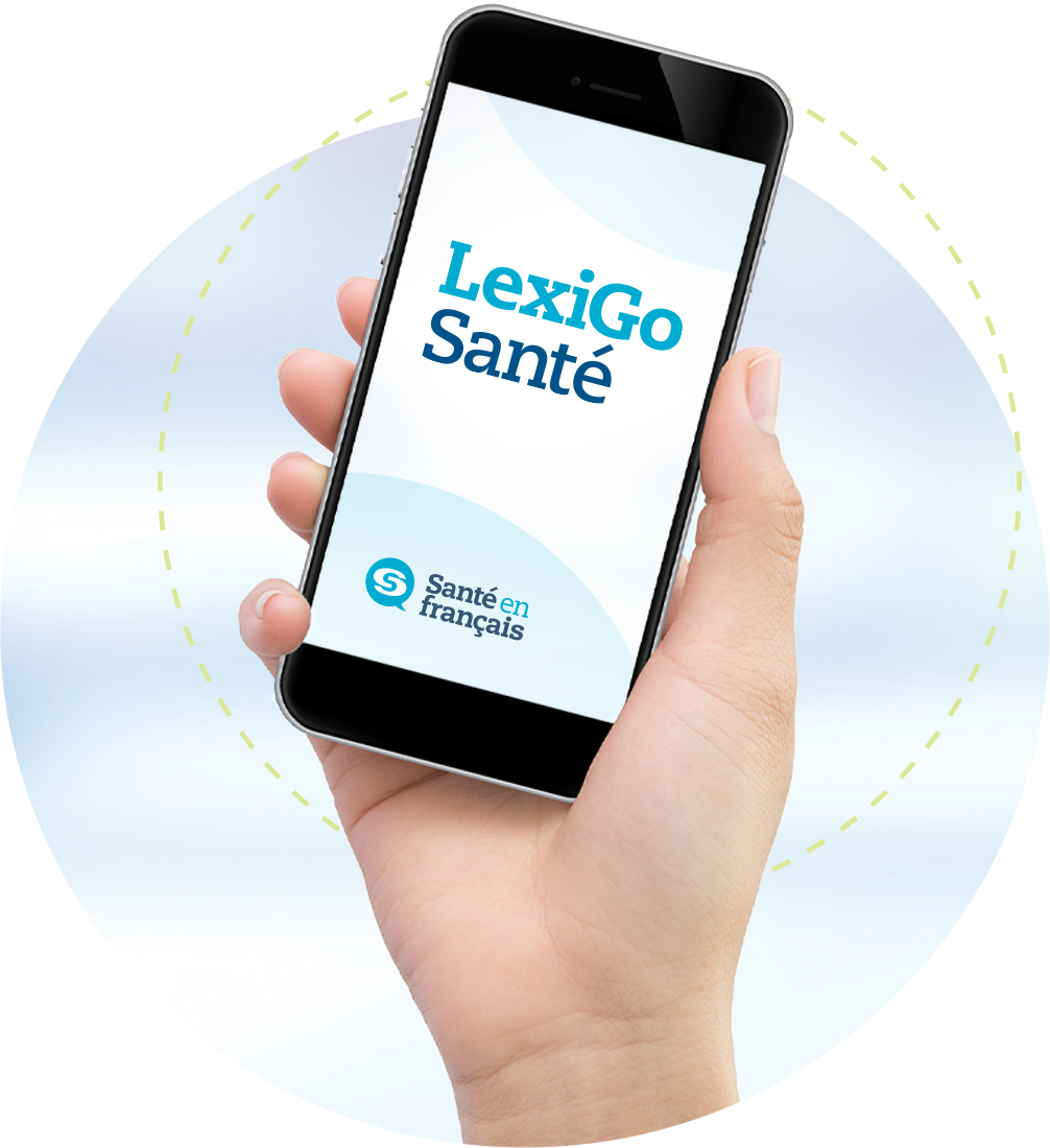 hand holding cell phone with lexigo application on screen